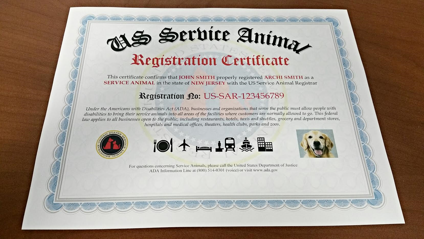 How To Register Service Dog Now 2018 Us Service Animal Registrar